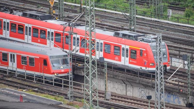 Ein Nahverkehrszug der DB Regio (vorne) sowie eine S-Bahn (hinten) fahren. Foto: Sebastian Gollnow/dpa