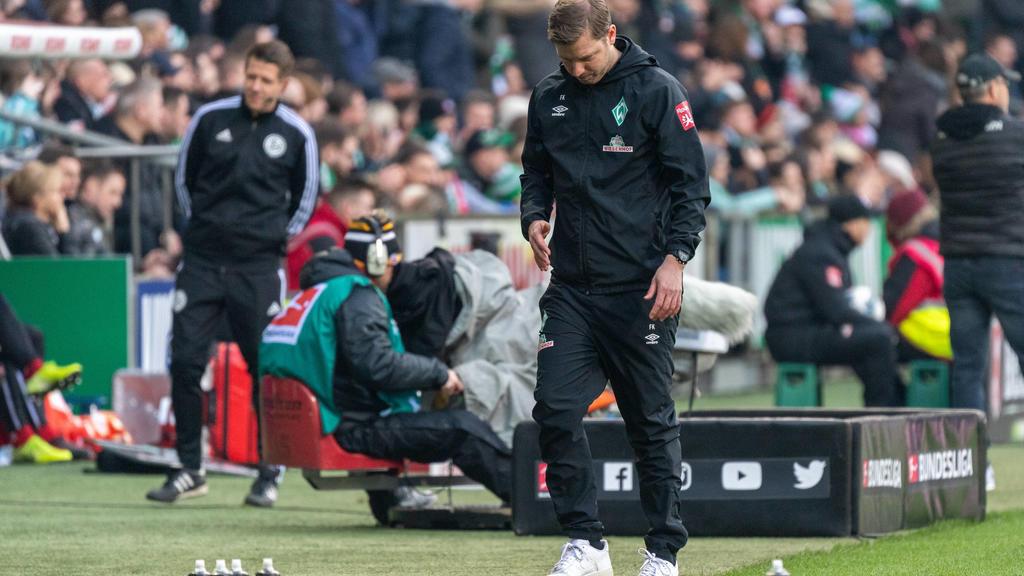 GER, SV Werder Bremen 1. FC Union Berlin / 08.02.2020, wohninvest Weserstadion, Bremen, GER, SV Werder Bremen 1. FC Union Berlin, DFL REGULATIONS PROHIBIT ANY USE OF PHOTOGRAPHS AS IMAGE SEQUENCES AND/OR QUASI-VIDEO. im Bild Florian Kohfeldt Trainer