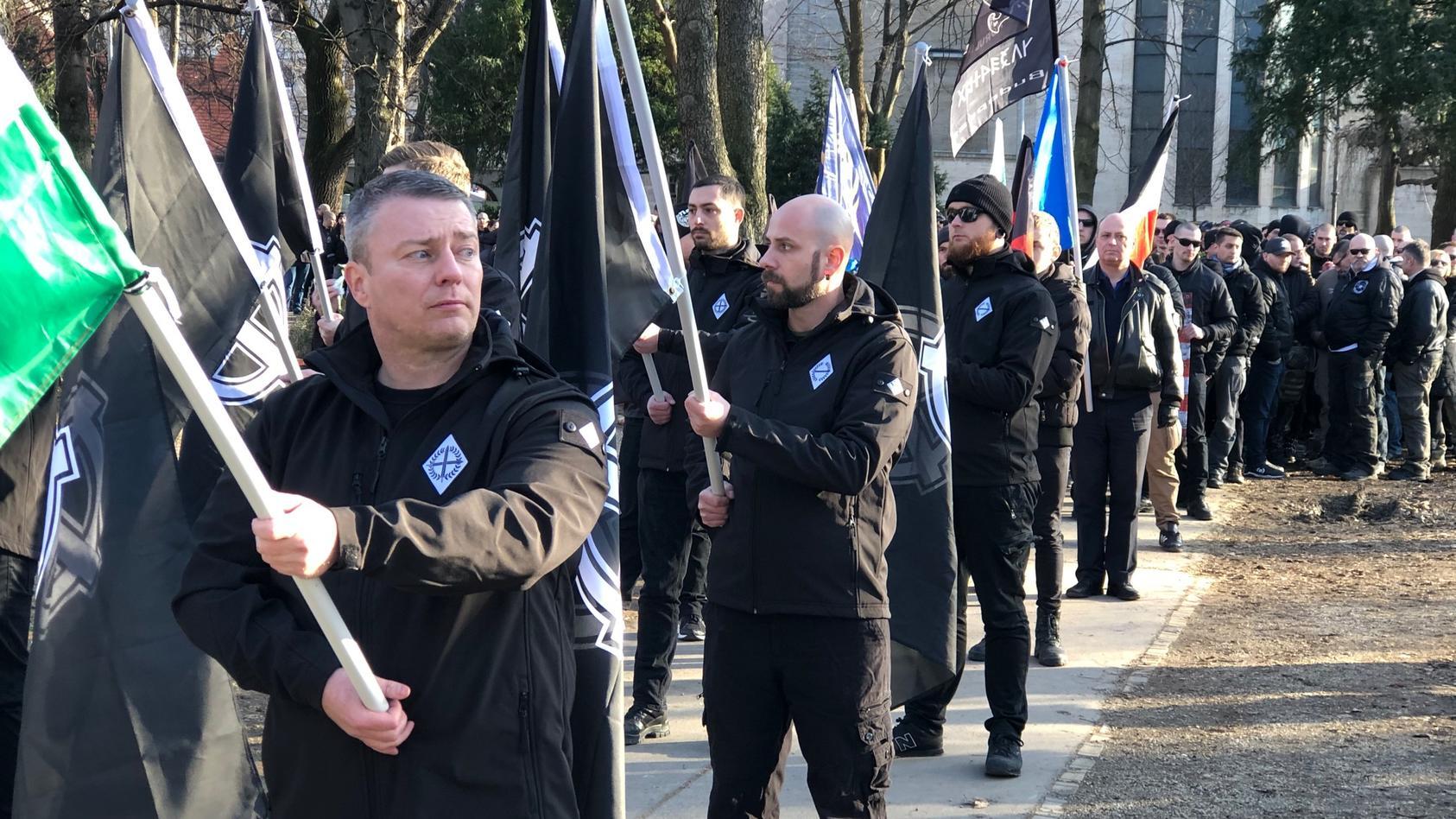 """""""Tag der Ehre"""" 2020 in Budapest: In Ungarns Hauptstadt marschieren Rechtsextreme aus ganz Europa auf."""