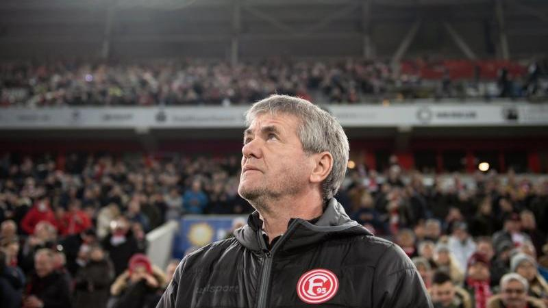 Der ehemalige Trainer von Düsseldorf, Friedhelm Funkel. Foto: Bernd Thissen/dpa/Archivbild