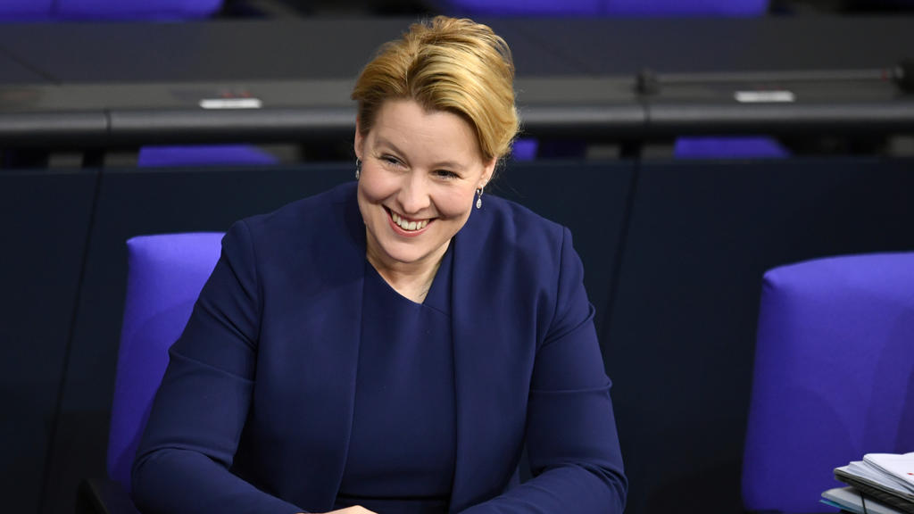 German Minister for Family Affairs, Senior Citizens, Women and Youth Franziska Giffey attends a session of lower house of parliament, Bundestag, in Berlin, Germany, January 30, 2020.  REUTERS/Annegret Hilse