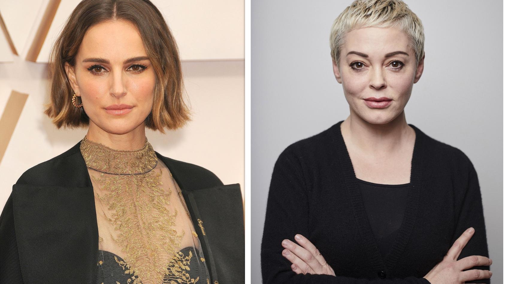 Natalie Portman und Rose McGowan sind sich gerade nicht grün