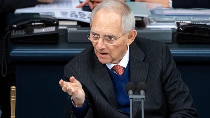 Bundestagspräsident Wolfgang Schäuble (CDU) . Foto: Bernd von Jutrczenka/dpa