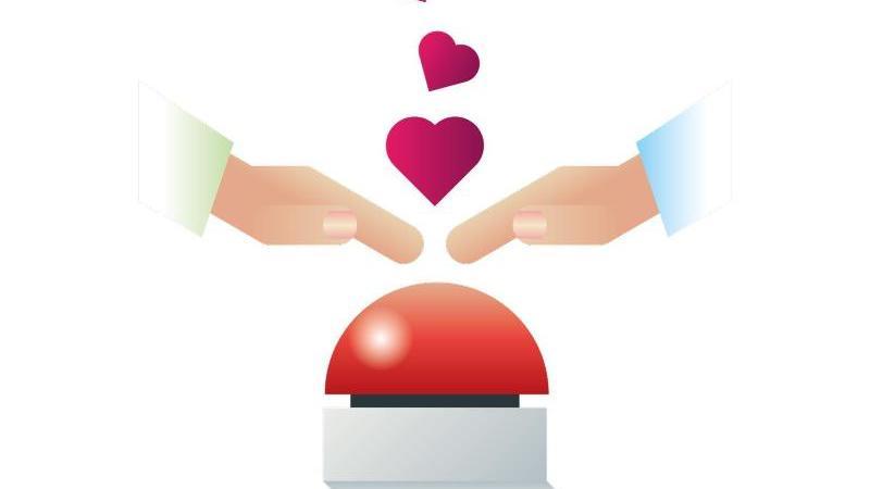 Funktioniert Romantik auf Knopfdruck?. Foto: dpa-Themendienst Grafik