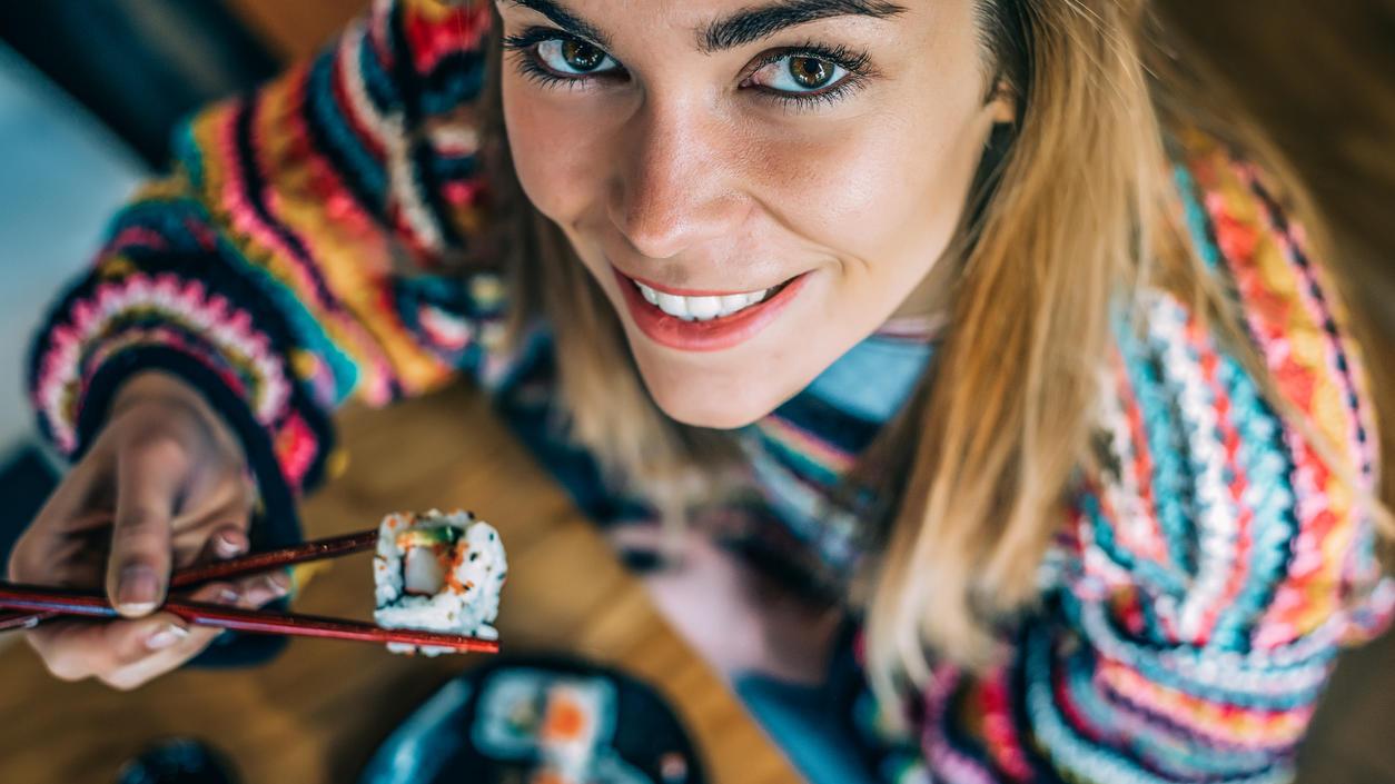 Wer abnehmen möchte, sollte besser zu Sushi als zur Reispfanne greifen.