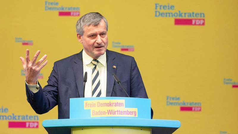 Hans-Ulrich Rülke, Vorsitzender der FDP-Fraktion im Landtag von Baden-Württemberg. Foto: Sebastian Gollnow/dpa/Archivbild