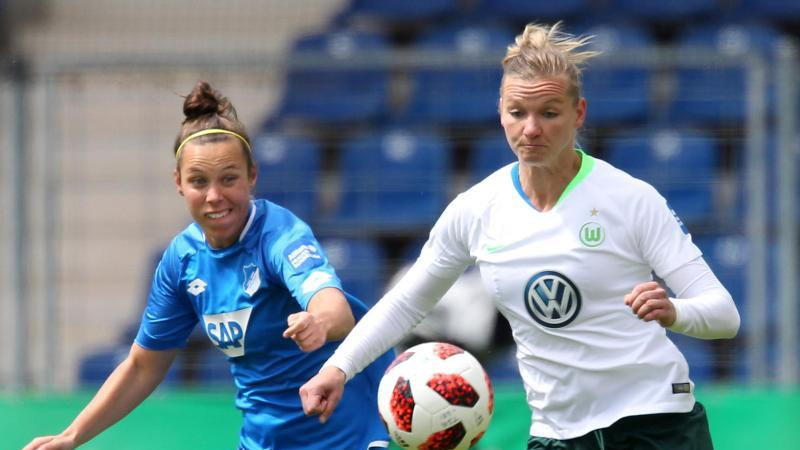 Alexandra Popp vom VfL Wolfsburg. Foto: Michael Deines/dpa