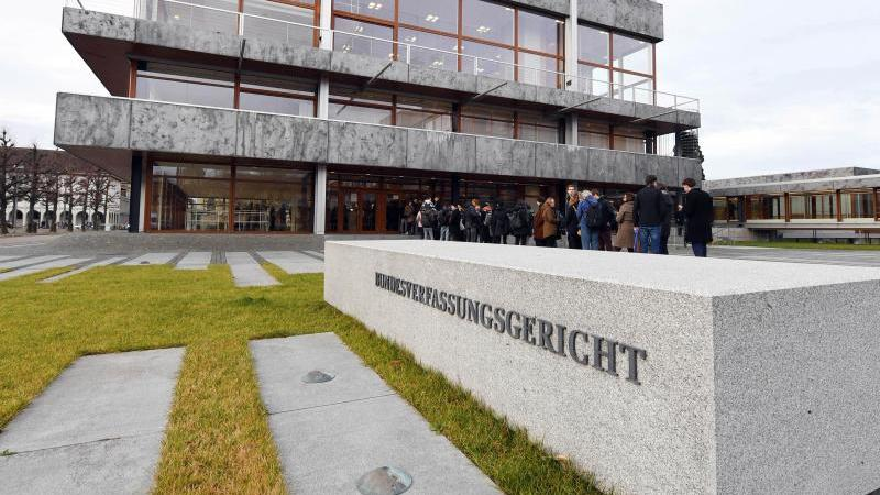 Außenaufnahme des Bundesverfassungsgerichts. Foto: Uli Deck/dpa/Archivbild