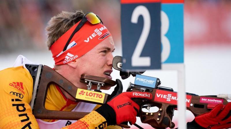 Gehört im WM-Sprint in Antholz zum Favoritenkreis: Benedikt Doll. Foto: Matthias Balk/dpa