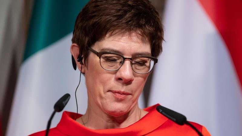 Annegret Kramp-Karrenbauer am Freitag bei der Sicherheitskonferenz in München. Foto: Sven Hoppe/dpa