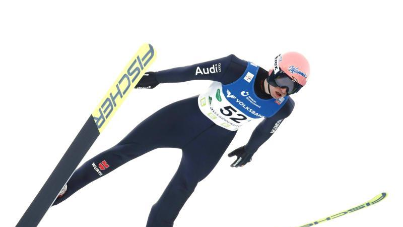 Karl Geiger kam am Kulm auf den vierten Platz. Foto: Erwin Scheriau/APA/dpa