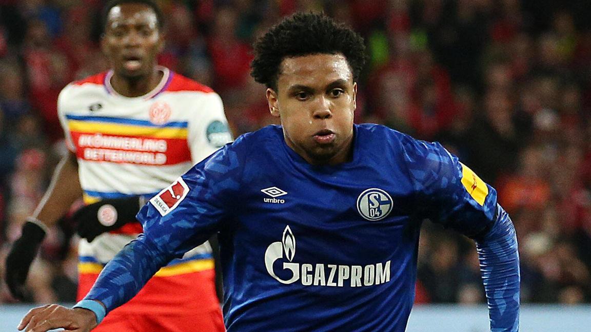 Weston McKennie (2, Schalke), Fussball, 1. Bundesliga: 1. FSV Mainz 05 - FC Schalke 04, 22. Spieltag am 16.02.2020, Sai