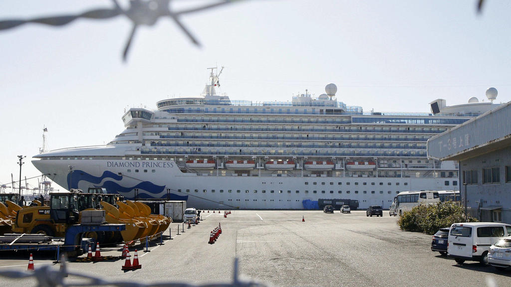 New coronavirus The cruise ship Diamond Princess is docked at Daikoku Pier in Yokohama near Tokyo on Feb. 17, 2020. The vessel has been kept in quarantine amid the spread of a new coronavirus among passengers and crew. PUBLICATIONxINxGERxSUIxAUTxHUNx