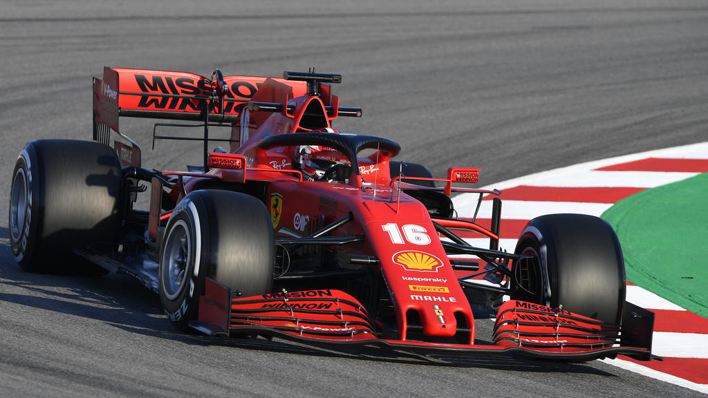 BARCELONA, SPAIN - FEBRUARY 19: Charles Leclerc of Monaco driving the (16) Scuderia Ferrari SF1000 on track during day one of Formula 1 Winter Testing at Circuit de Barcelona-Catalunya on February 19, 2020 in Barcelona, Spain. (Photo by Rudy Carezzev