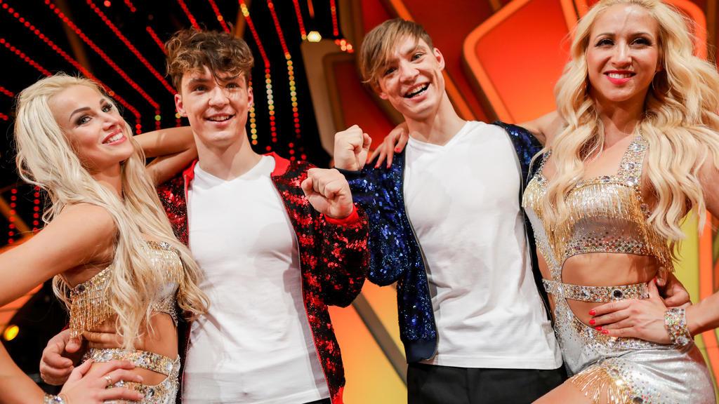 Roman Lochmann (links) tanzte in der 12. Staffel mit Katja Kalugina und Heiko Lochmann hatte Profitänzerin Kathrin Menzinger an seiner Seite.
