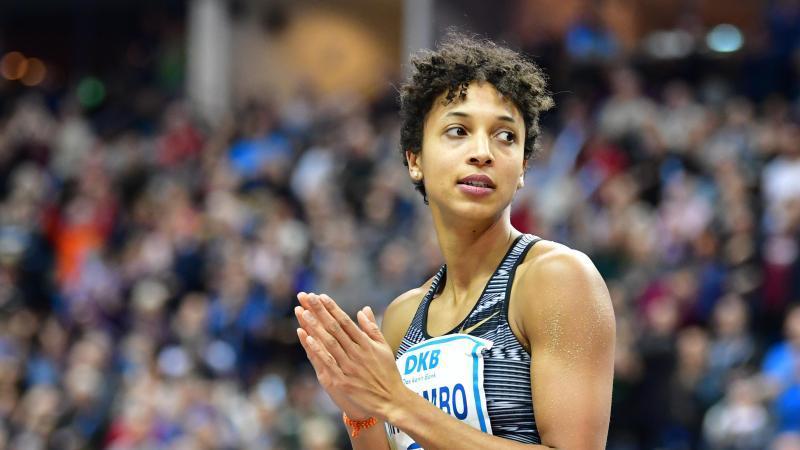 Die deutsche Sportlerin Malaika Mihambo. Foto: Soeren Stache/dpa-Zentralbild/dpa/Archivbild