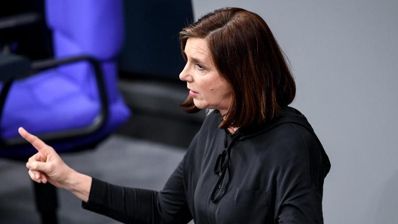 Katrin Göring-Eckardt spricht im Bundestag. Foto: Britta Pedersen/dpa-Zentralbild/dpa/Archivbild