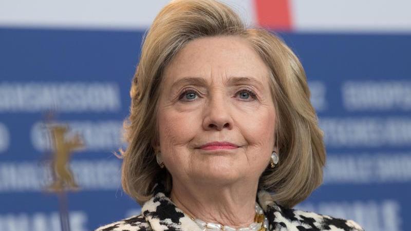 Hillary Rodham Clinton auf der Berlinale. Foto: Jörg Carstensen/dpa