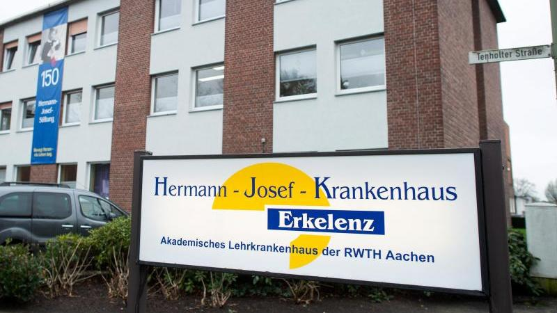 Das Hermann-Josef-Krankenhaus in Erkelenz. Foto: Jonas Güttler/dpa