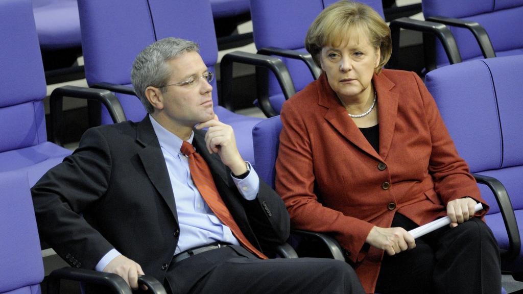 Norbert Röttgen Deutschland/Erster Parlamentarischer Geschäftsführer CDU/CSU-Fraktion im Deutschen Bundestag und Bundeskanzlerin Angela Merkel Deutschland/CDU in Berlin
