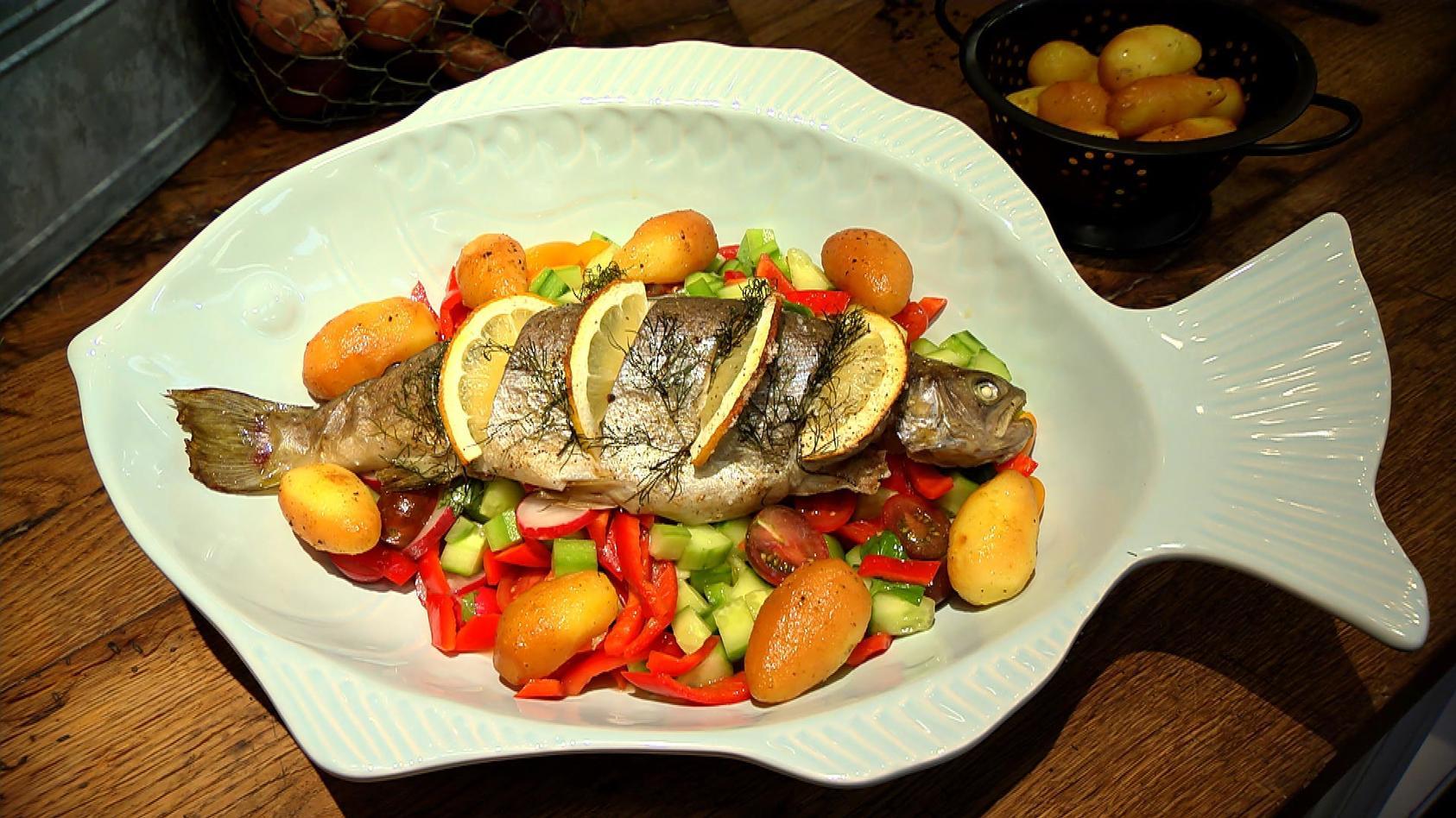 Ja ich grill! – Grillrezepte für jede Jahreszeit: Dill-Forelle mit geräucherten Kartoffeln