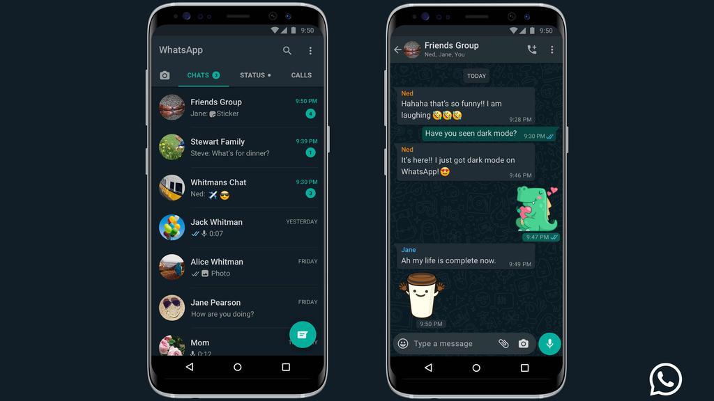 So sieht der Dark Mode bei WhatsApp aus