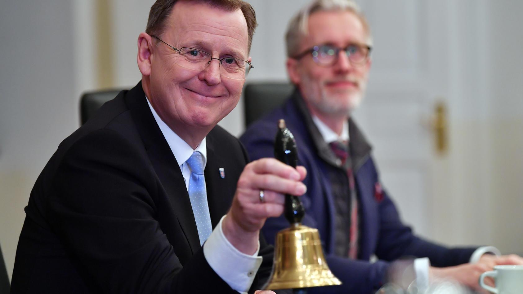 Ministerpräsidentenwahl in Thüringen - Erste Kabinettsitzung
