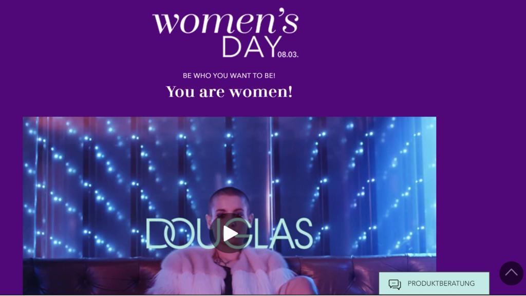 Bei Douglas gibt es tolle Angebote zum Weltfrauentag.