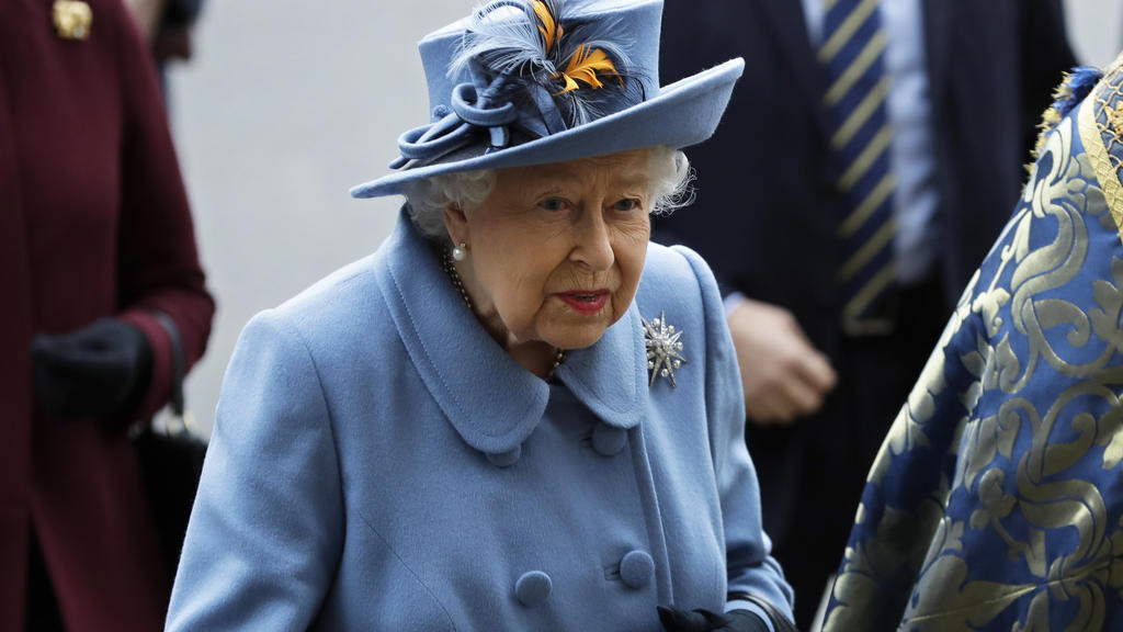 Britain's Queen Elizabeth II arrives to attend the annual Commonwealth Day service at Westminster Abbey in London, Monday, March 9, 2020. The annual service, organised by the Royal Commonwealth Society, is the largest annual inter-faith gathering in