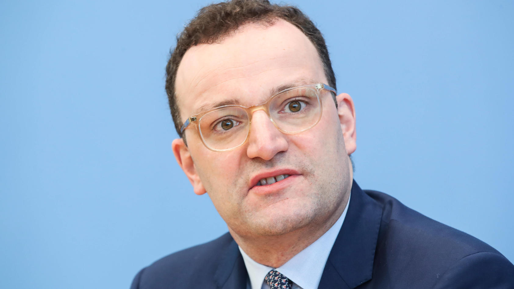 (200311) -- BERLIN, March 11, 2020 -- German Health Minister Jens Spahn attends a press conference of COVID-19 situation