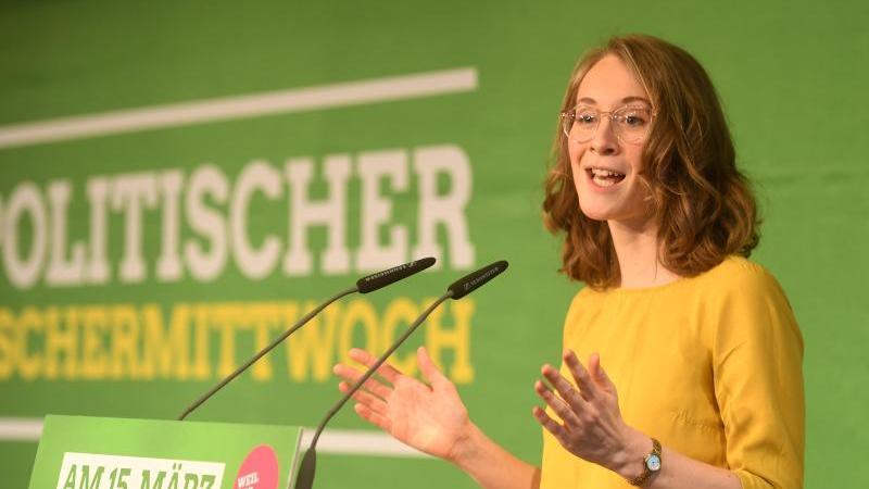 Eva Lettenbauer, Landesvorsitzende von Bündnis 90/Die Grünen in Bayern. Foto: Tobias Hase/dpa/Archivbild