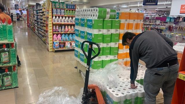 Auch in der Türkei ist Toilettenpapier in Zeiten von Corona eine begehrte Ware.