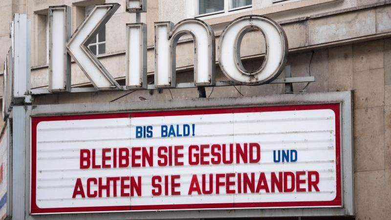 Geschlossenes Kino in Stuttgart. Foto: Marijan Murat/dpa