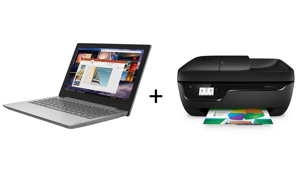 Dieses Bundle besteht aus Laptop und Drucker und ist ein günstiger Start ins Homeoffice.