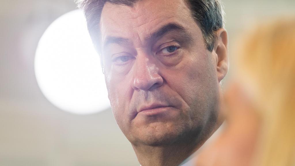 Markus Söder (CSU), Ministerpräsident von Bayern, während einer aktuellen Pressekonferenz in der bayerischen Staatskanzlei. Foto: Peter Kneffel/dpa +++ dpa-Bildfunk +++