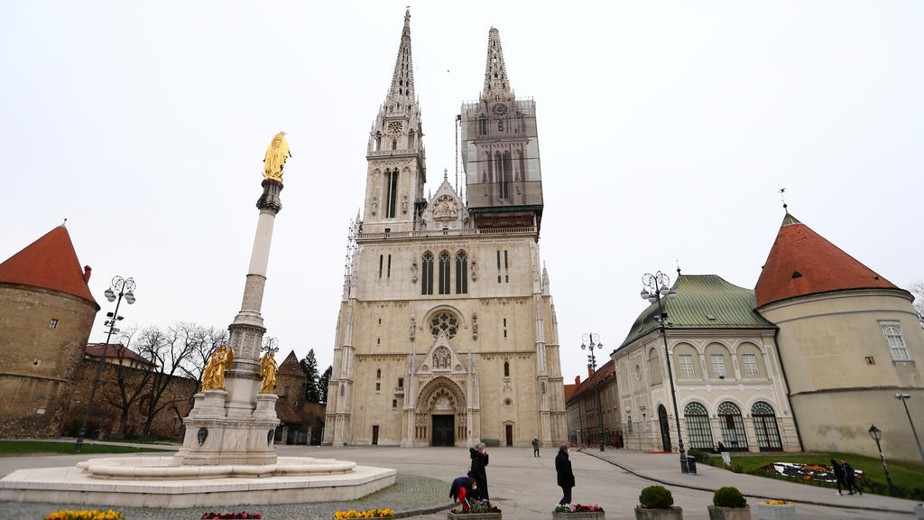 Kathedrale von Zagreb nach dem Erdbeben
