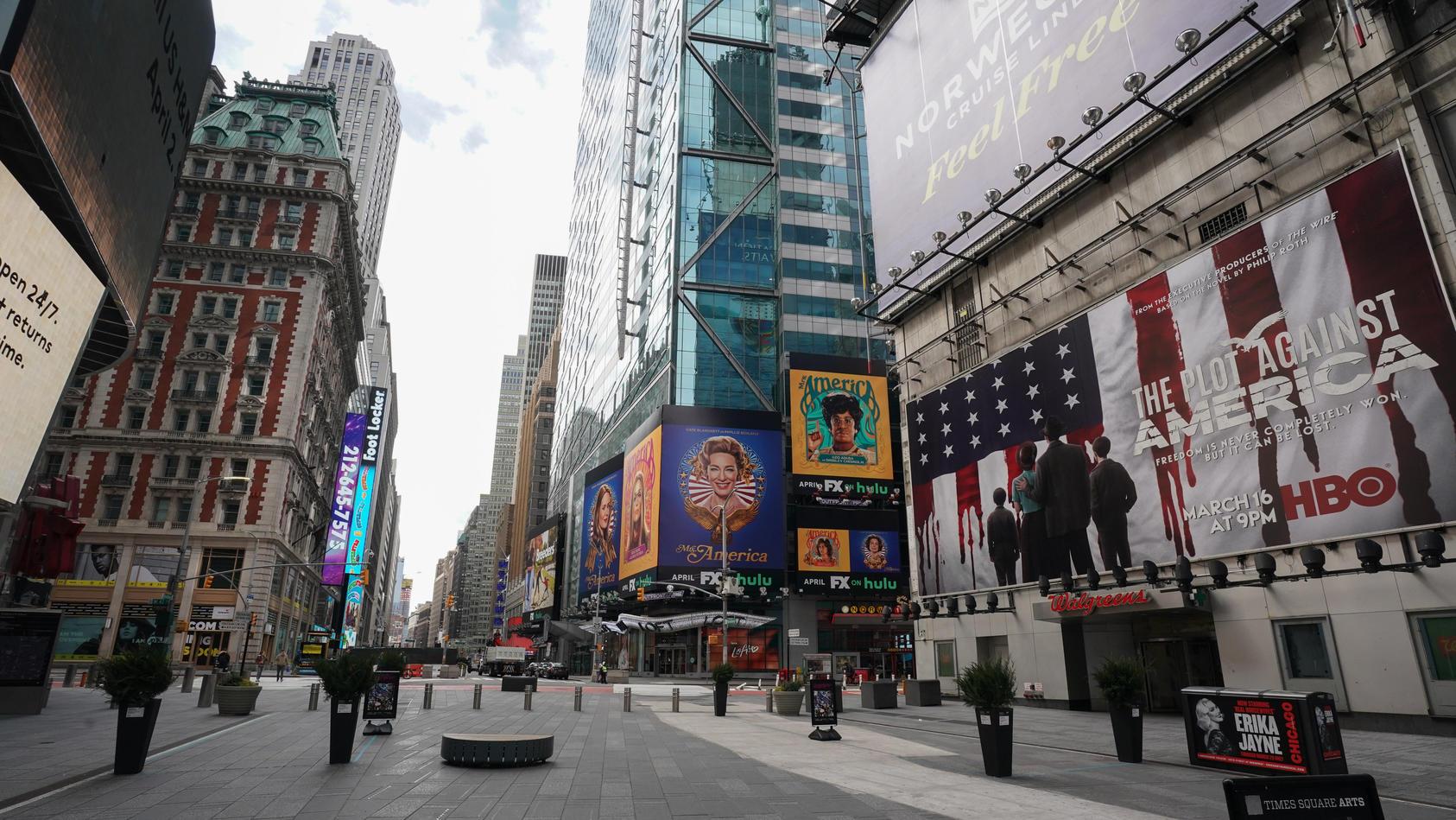 Wegen der Verbreitung des Coronavirus, herrschen auch in New York jetzt Ausgangsbeschränkungen.