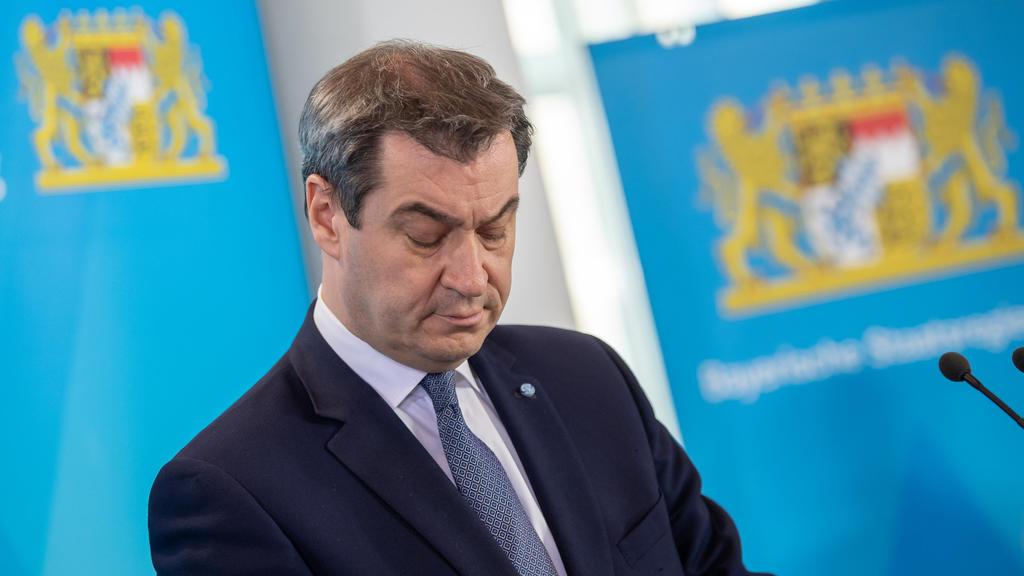 20.03.2020, Bayern, München: Markus Söder (CSU), Ministerpräsident von Bayern, während einer aktuellen Pressekonferenz in der bayerischen Staatskanzlei. Foto: Peter Kneffel/dpa +++ dpa-Bildfunk +++