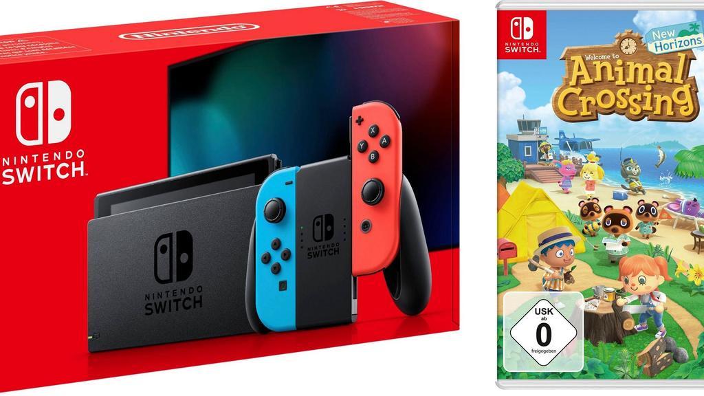 "Nintendo Switch mit Animal Crossing New Horizons"""