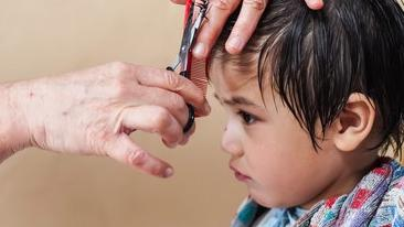 Haircut for a child.