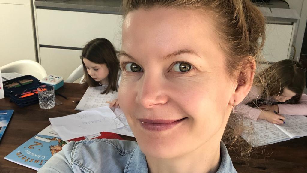Eva Imhof und ihre beiden Zwillinge