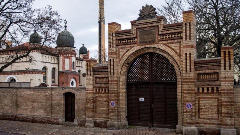 Die Synagoge in Halle/Saale. Foto: Hendrik Schmidt/dpa-Zentralbild/ZB