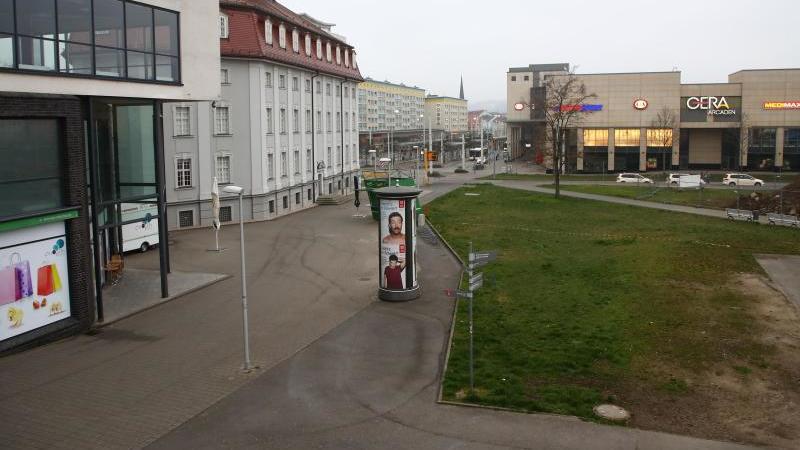 Menschenleere Wege in Geras Stadtzentrum. Foto: Bodo Schackow/dpa/Archivbild