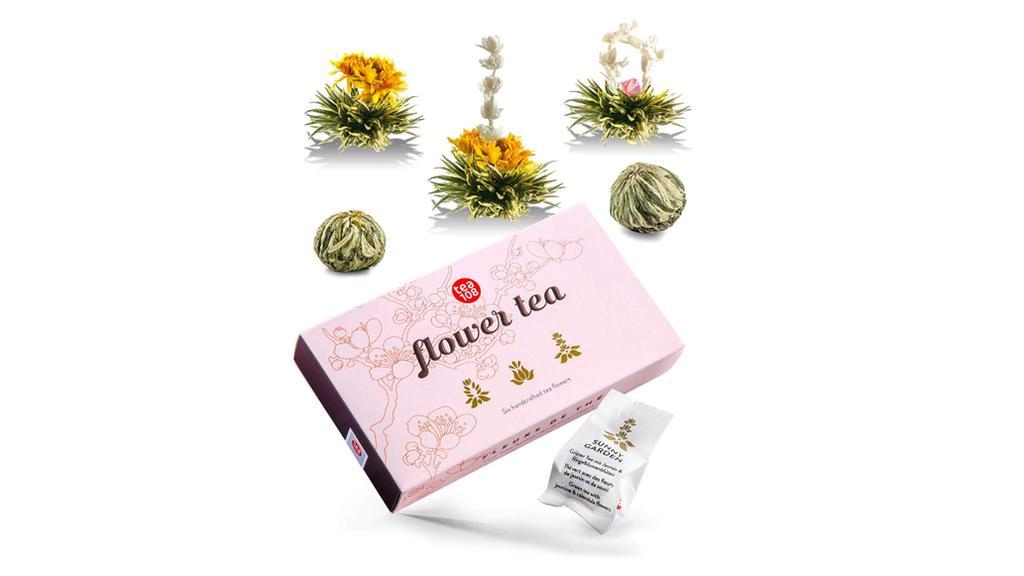 Teeblumen-Geschenkset.