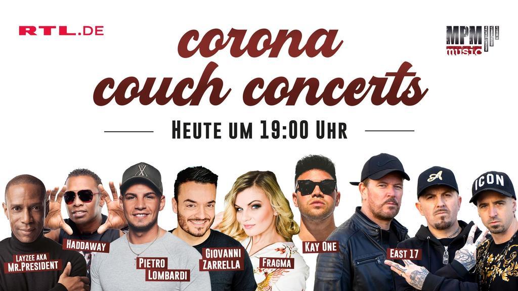 Corona-Couch-Concert bei RTL.de am 26. März ab 19 Uhr.