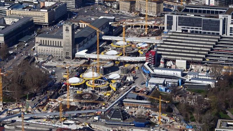 Die Baustelle des milliardenschweren Bahnprojekts Stuttgart 21 am Hauptbahnhof. Foto: Uli Deck/dpa