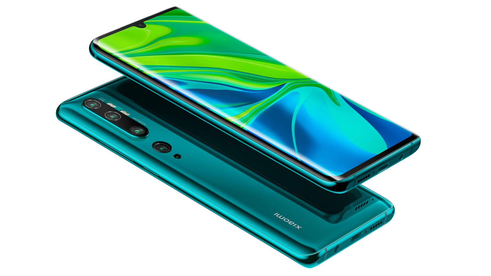 Das Xiaomi Mi Note 10 Pro in Aurora Green gibt es jetzt mit Vertrag zum interessanten Preis.