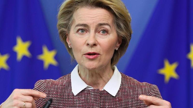 Laut EU-Kommissionspräsidentin Ursula von der Leyen plant die EUkeine eigenen Corona-Bonds. Foto: Zheng Huansong/XinHua/dpa