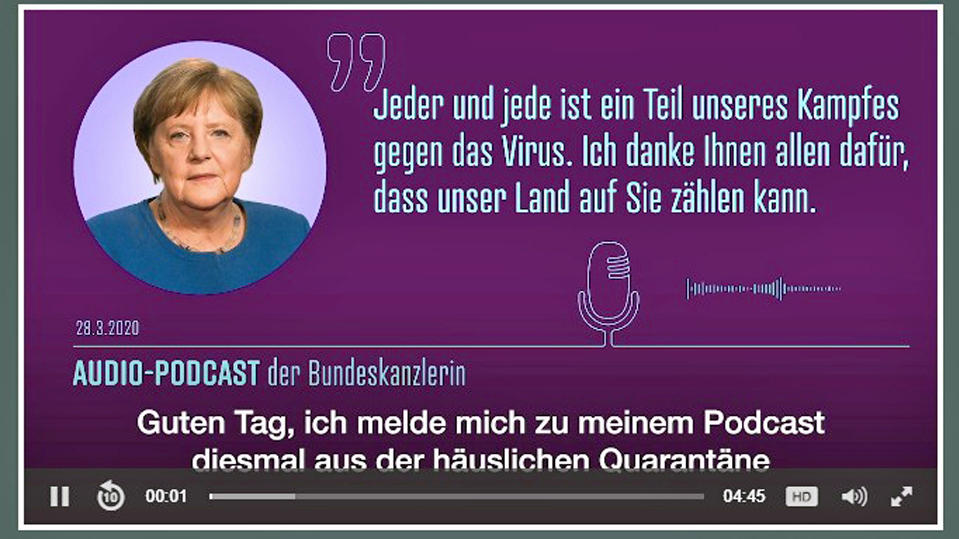 Merkel-Podcast (Screenshot)