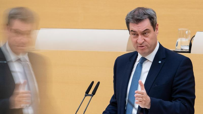 Markus Söder (CSU), Ministerpräsident von Bayern, spricht im Landtag. Foto: Sven Hoppe/dpa/Archivbild